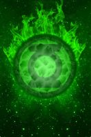 Green Lantern Fireball Background by KalEl7