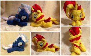 Sunset Shimmer and Night Glider by Rainbow-Rocket