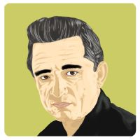 Johnny Cash Vector by sanzo-supreme