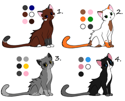 Cat Adoptables~ -CLOSED- by WolfTwine