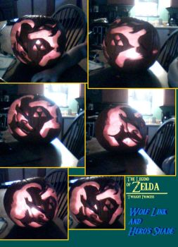 Link And Hero's Shade Pumpkin by FayeleneFyre