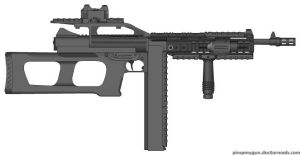 A.T.A.C. Tompson M1A1-Theta-925 RAS by Lord-DracoDraconis