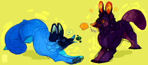 weird boner fish foxes by solitaryVagrant