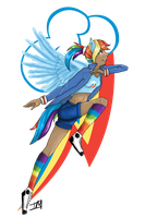 .:Rainbow Dash:. by deerly-hime