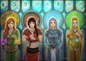 Deities of Affallonn by CristianaLeone
