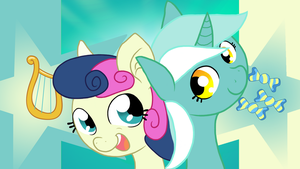 Lyra and Bonbon -Close up by Darkonix