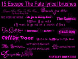 Escape The Fate Brushes by OMFGman