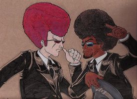 Afro Battle by brotherpanda