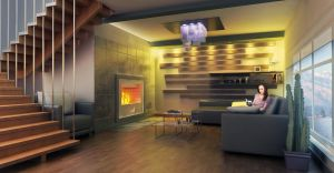 The room with a fireplace HQ by Ultrarender