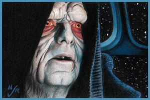 ROTJ Emperor Sketch Card by MJasonReed