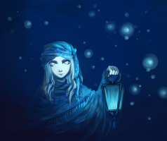 Blue Lantern by Kutty-Sark