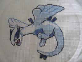 Lugia Cross Stitch by Letheine