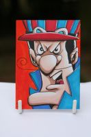 Dick Dastardly Sketchcard by kevbrett