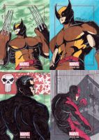Marvel Bronze Age sketch cards - more cards by JoeOiii