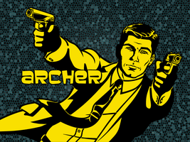 Sterling Archer stencil by heinpold