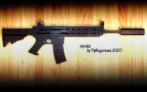 Heckler and Koch 416 v3 -LEGO by xjcdentonx