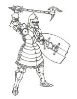 Picface amored knight by draks