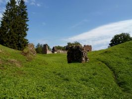 Karksi Castle ruins and moat 109 by MASYON