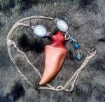 Blue Dragon Tooth Necklace by SmileyVamp