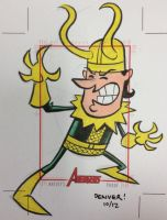 LOKI AP sketchcard by thecheckeredman