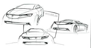 chevy car sketches by ecco666