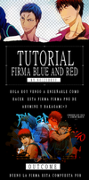 Tutorial Red And Blue by Camyradiatelove