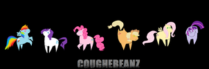 The 'Mane' Six- MLP by CoughEBeanz