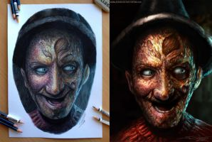 My Freddy Pencil and Digital drawing by AtomiccircuS