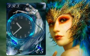Fantasy Clock for xwidget by jimking