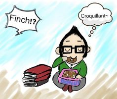 Finch enjoy croquillant by crazy-alien