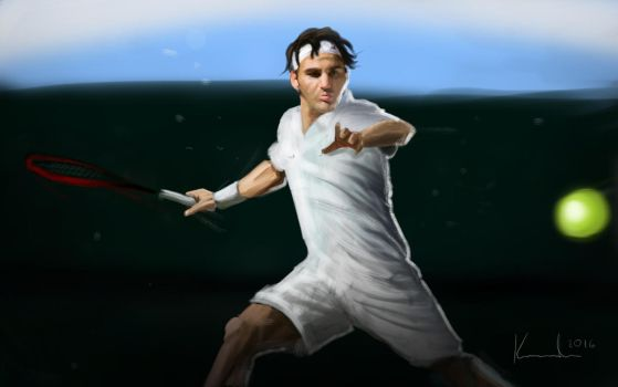 Roger Federer by TomCorch