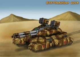 Armageddon MK V Super Heavy Tank (Digital Redraw) by B737TheAirliner