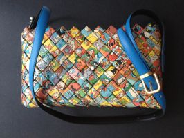 Purse with handle, Donald Duck 01 by SecondChanceCrafts