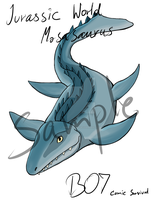 Comic Survival: Mosasaurus Keychain by Trirasceous