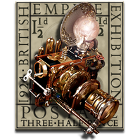 Steampunk Photoshop Icon MkIII by yereverluvinuncleber