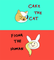 Cake the Cat, Fiona the Human by empty-10
