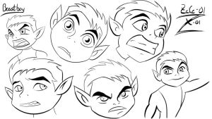 Beast Boy practice sketches by Zeke-01