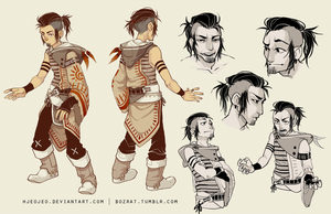 character design commission : Kodaksmile by HJeojeo