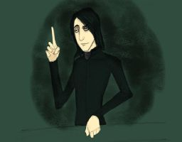 Snape at 26 by Siriuslygrimm