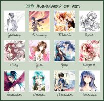 2014 Summary of Art by Kite-d