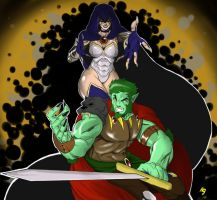 Raven and Beast Boy Medieval by JuLeonidas