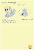 Derpy Birthday Card by TheAmazingNoodle
