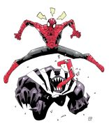 Spidey and venom coloured by future-parker