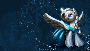 The snow queen (Frozen + MLP Crossover) by RenateThePony