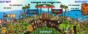 Survivor Fan Character 5 Year Anniversary by shadow0knight