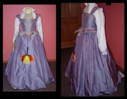 Periwinkle and Pearl Gown by immortalphoenix