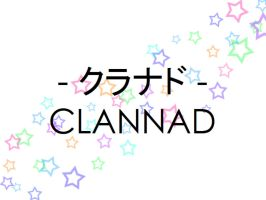Clannad title screen (Sumo Paint) by gamera68