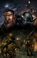 TMNT 2007 Comic Cover by Tonywash