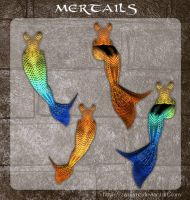 3D Mertails by zememz