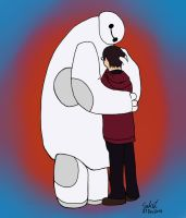 Baymax and Mom by JakeNickleby